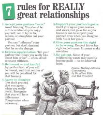 7 rules for great relationships